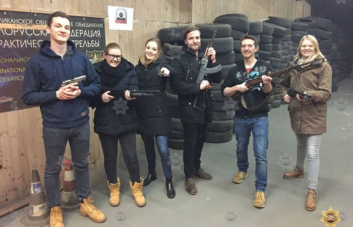 Group photo after the shooting in vilnius