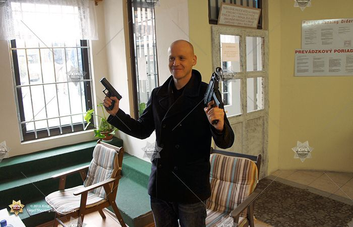 King of shooting bucharest shooting range hello my name is bruce willis