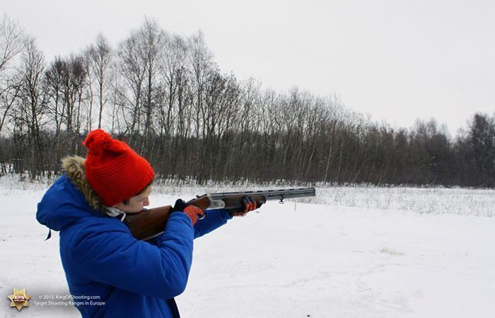 King of shooting krakow clay pigeon red cap