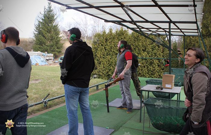 King of shooting prague clay pigeon team in action