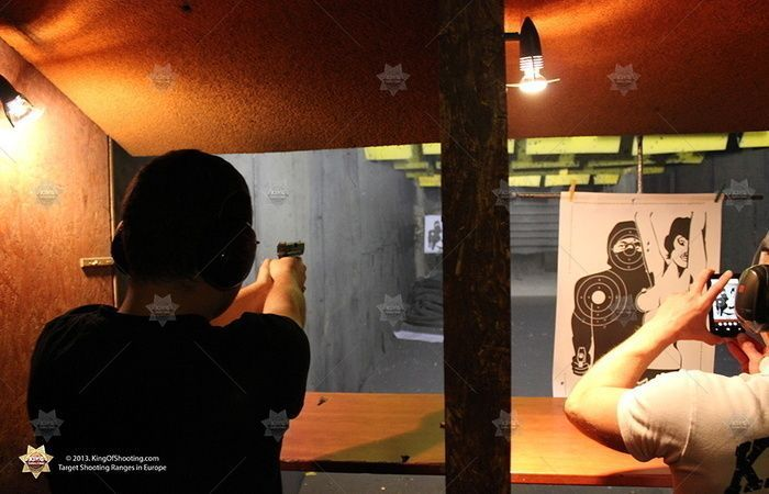 King of shooting prague shooting range in action