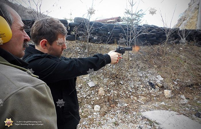 King of shooting sofia shooting range cowboy revolver shooting